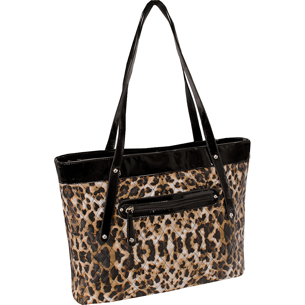 Parinda Fiona Tote Leopard Parinda Fabric Handbags