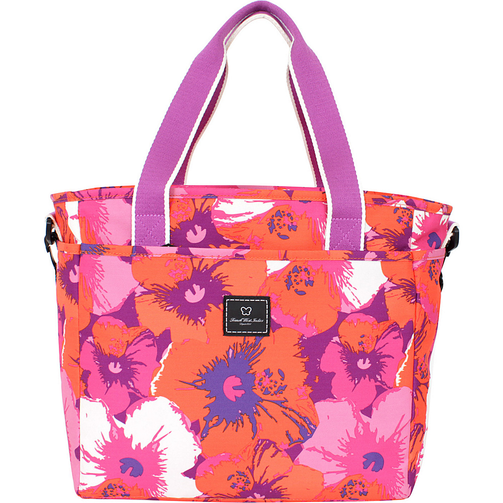 French West Indies Small Tote Pop Flower Purple - French West Indies Luggage Totes and Satchels