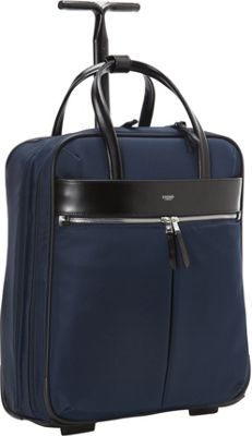 KNOMO London Burlington 15 inch N/S Trolley Navy - KNOMO London Wheeled Business Cases