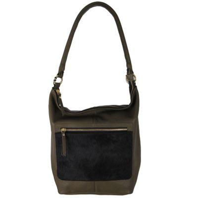 Latico Leathers London Tote Black on Olive - Latico Leathers Leather Handbags