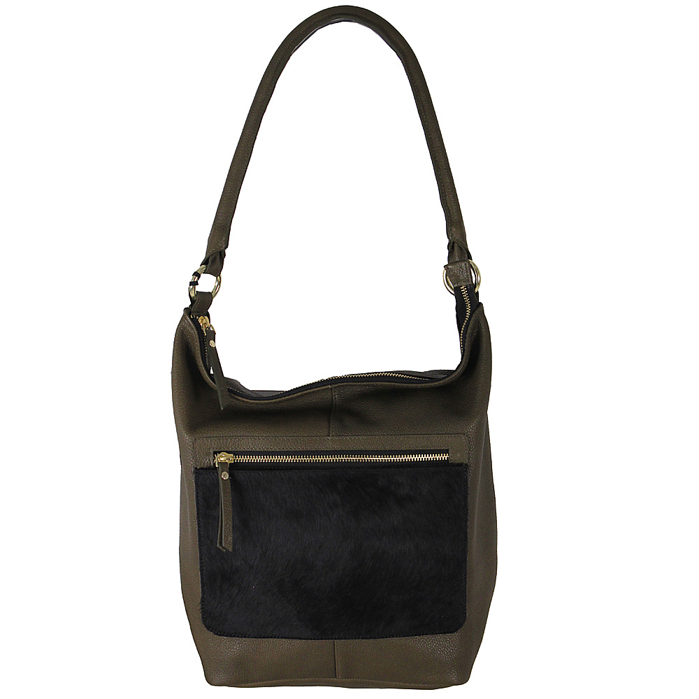 Latico Leathers London Tote Black on Olive - Latico Leathers Leather Handbags