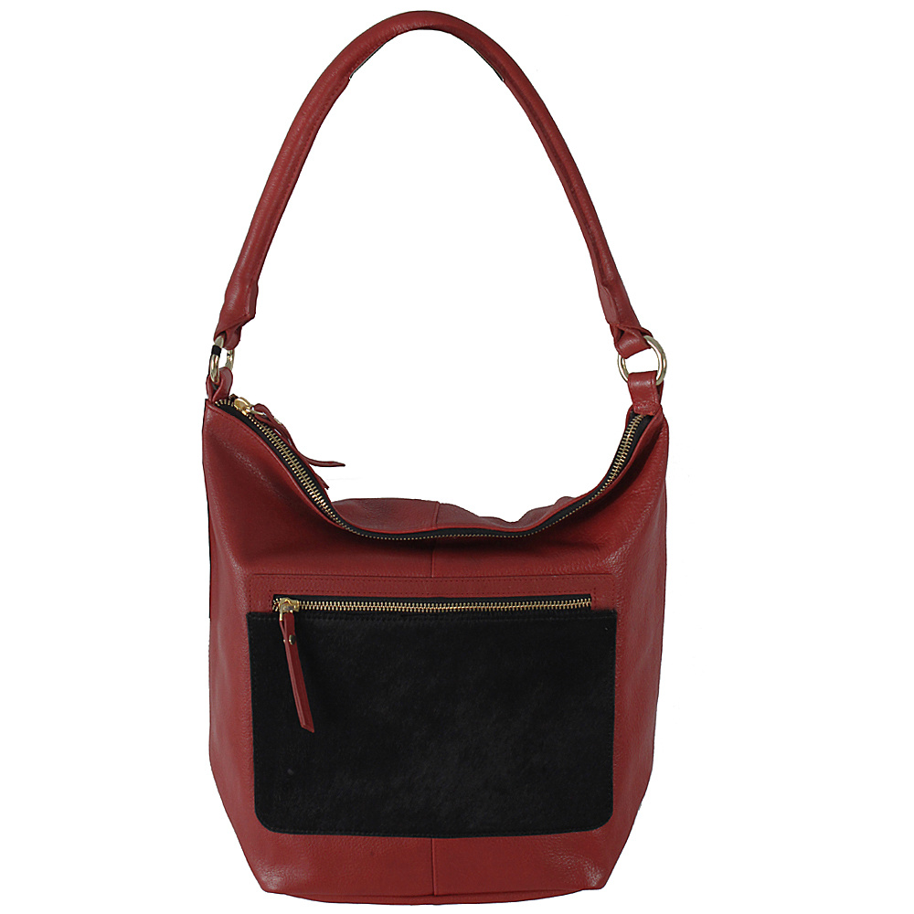 Latico Leathers London Tote Black on Red - Latico Leathers Leather Handbags - Handbags, Leather Handbags