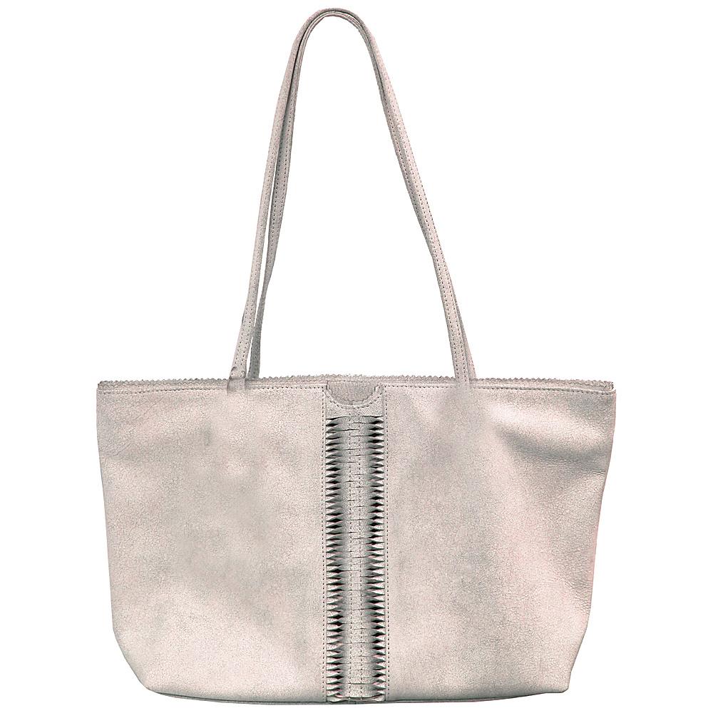 Latico Leathers Nicoleta Tote Crackle White - Latico Leathers Leather Handbags - Handbags, Leather Handbags