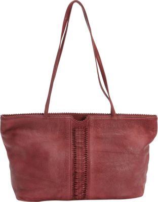 Latico Leathers Nicoleta Tote Crinkle Burgundy - Latico Leathers Leather Handbags