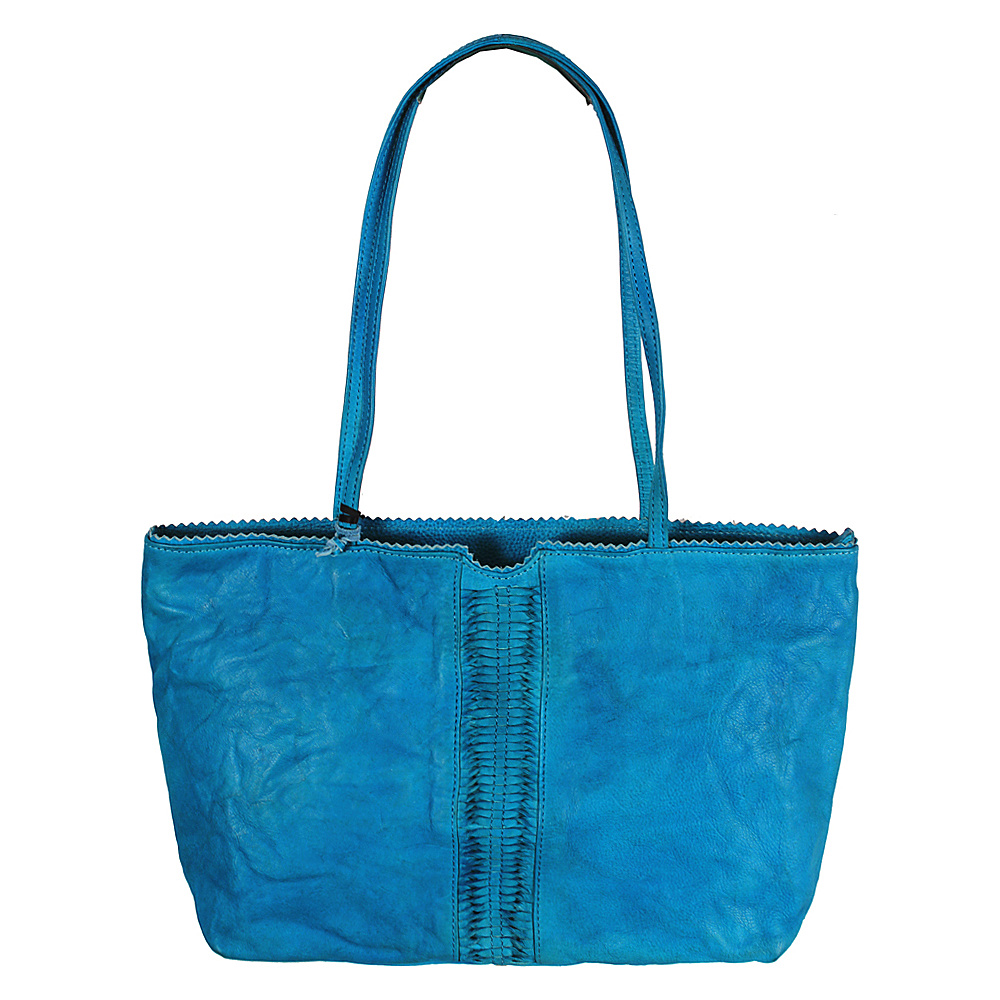 Latico Leathers Nicoleta Tote Crinkle Blue - Latico Leathers Leather Handbags - Handbags, Leather Handbags