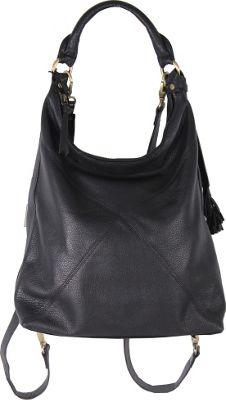 Latico Leathers Marilyn Backpack Handbag Pebble Black - Latico Leathers Leather Handbags
