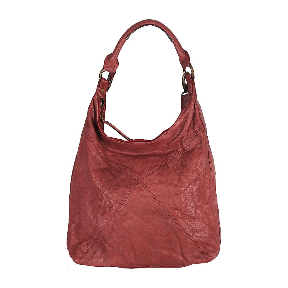 Latico Leathers Marilyn Backpack Handbag Crinkle Burgundy - Latico Leathers Leather Handbags