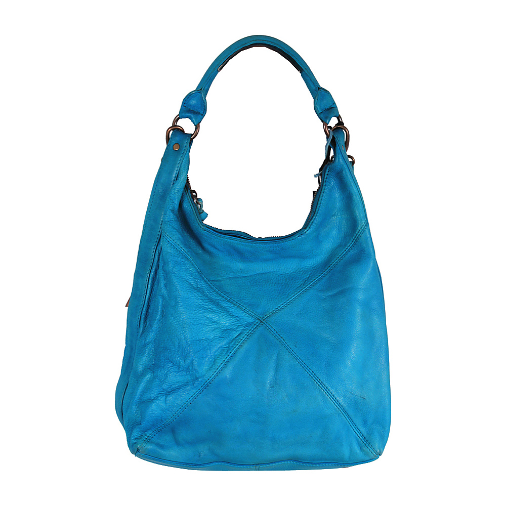 Latico Leathers Marilyn Backpack Handbag Crinkle Blue - Latico Leathers Leather Handbags