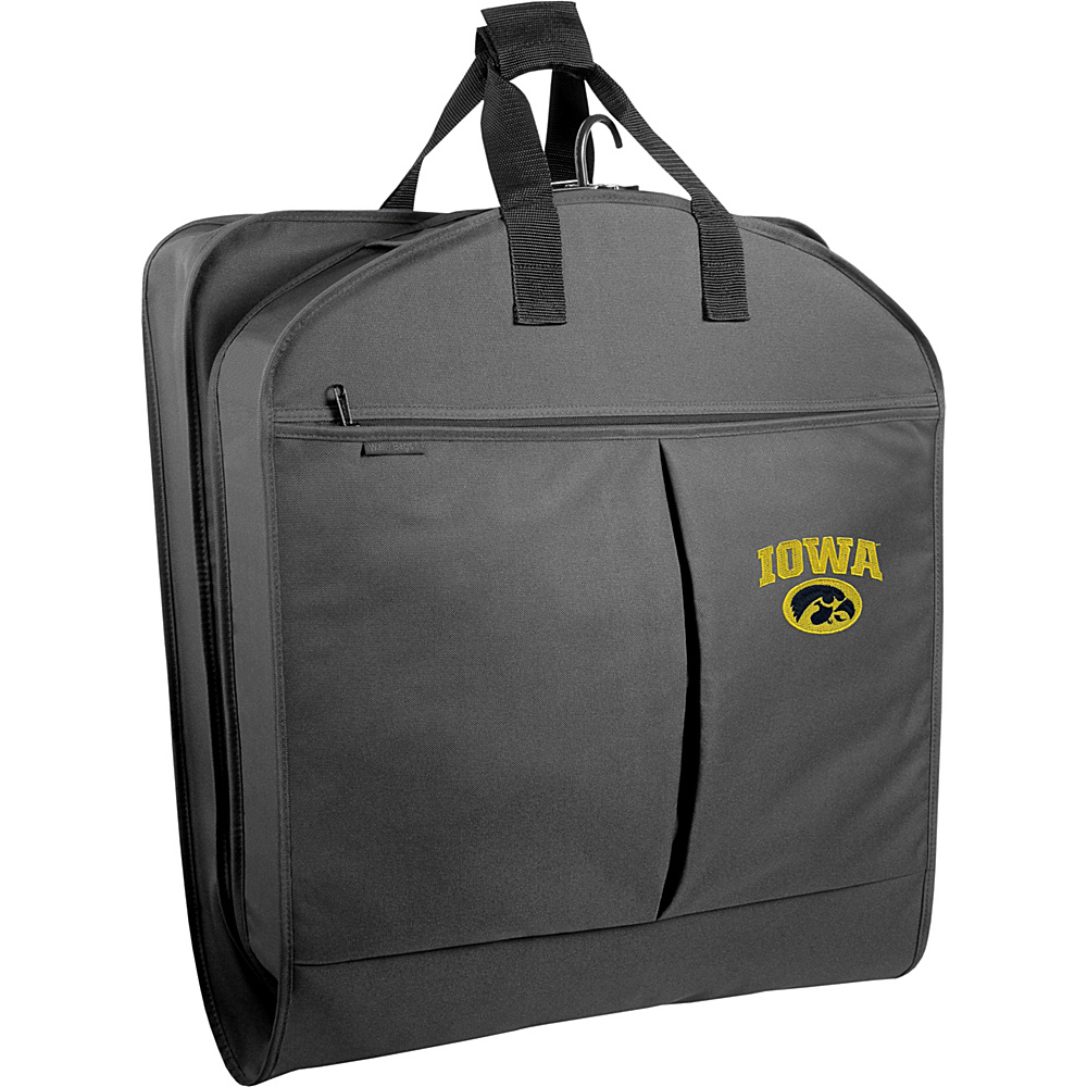 "Wally Bags Iowa Hawkeyes 40"" Suit Length Garment Bag with Two Pockets Black - Wally Bags Garment Bags"