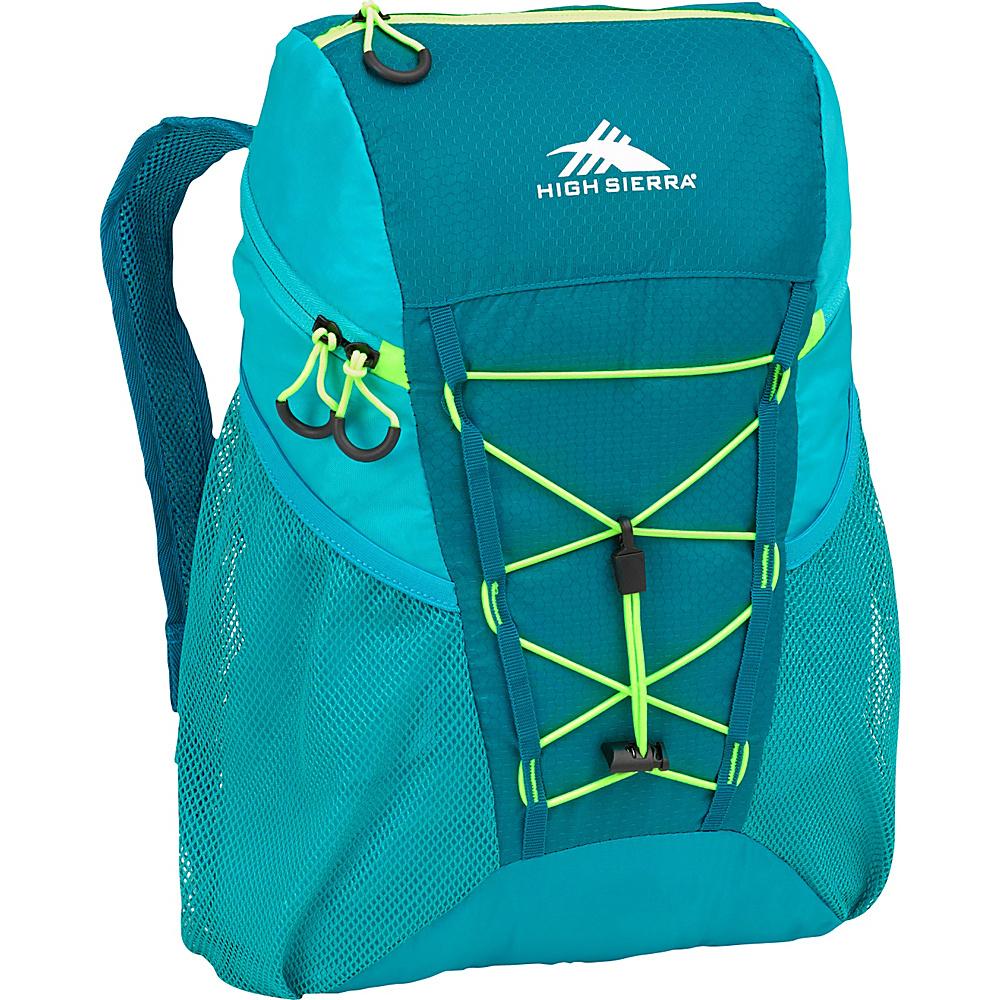 High Sierra 18L Packable Sport Backpack SEA/TROPIC TEAL/ZEST - High Sierra Packable Bags