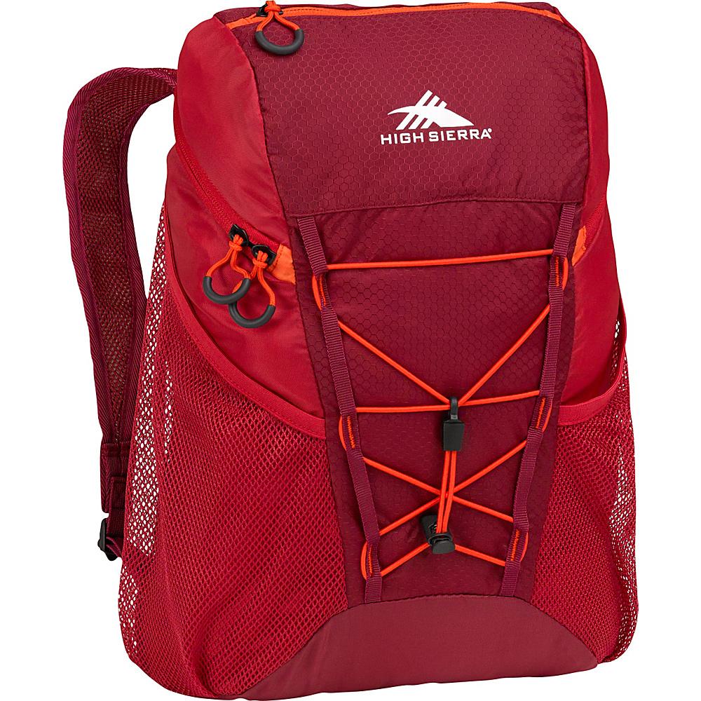High Sierra 18L Packable Sport Backpack BRICK RED/CARMINE/RED LINE - High Sierra Packable Bags