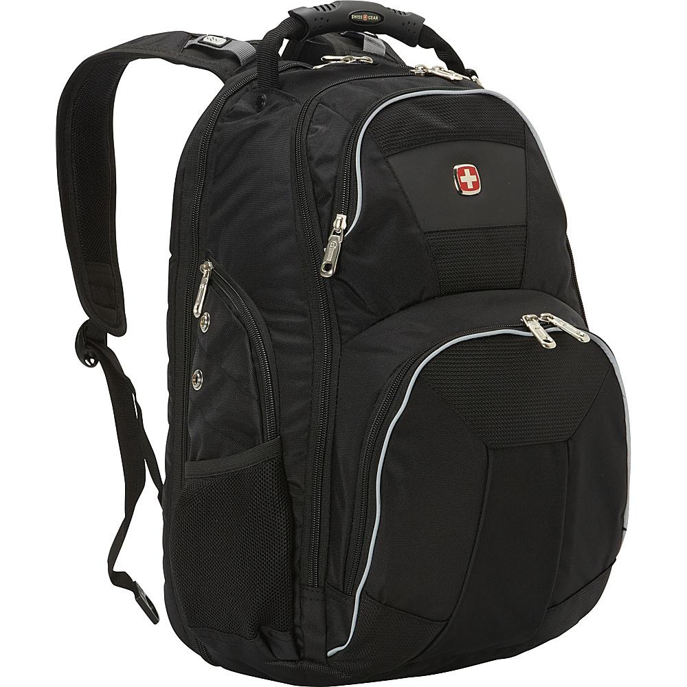 SwissGear Travel Gear ScanSmart Backpack 1696 Black Grey SwissGear Travel Gear Business Laptop Backpacks