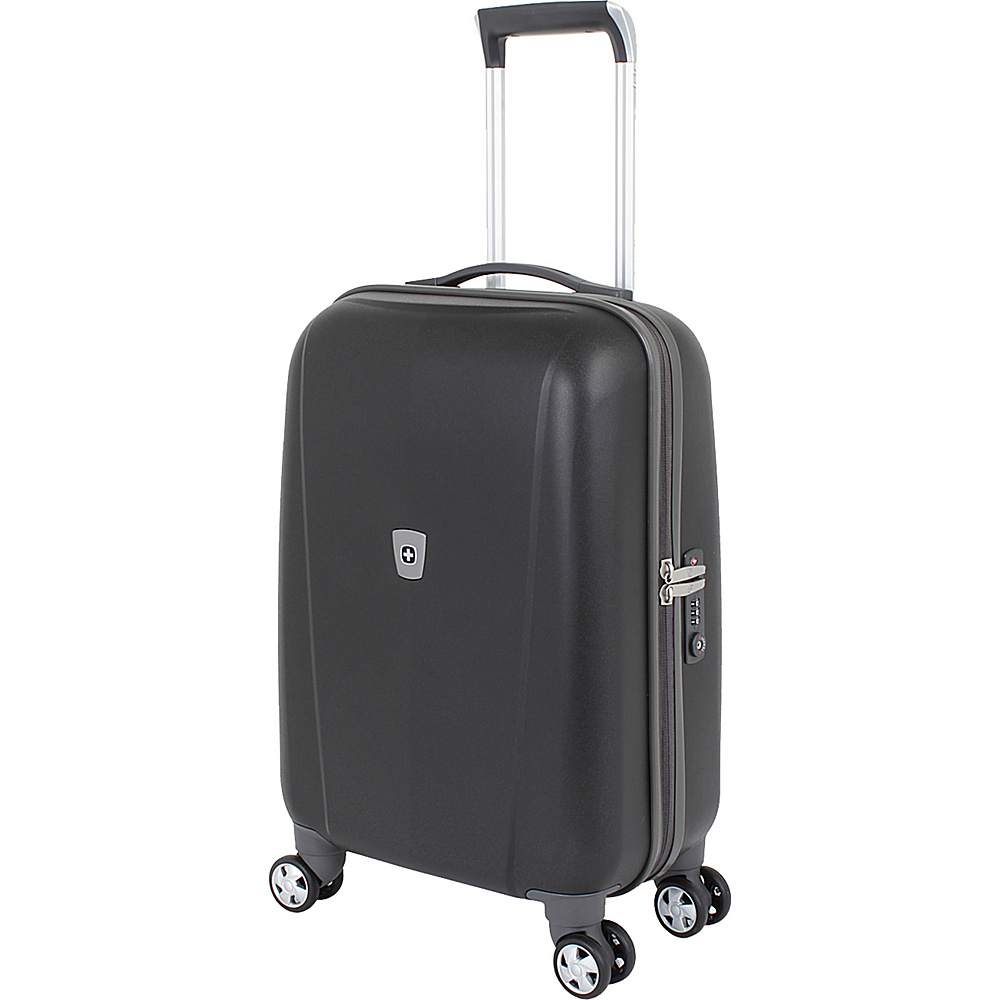 SwissGear Travel Gear 20 Hardside Spinner Black SwissGear Travel Gear Hardside Carry On