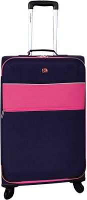 SwissGear Travel Gear SwissGear Travel Gear 24 inch 4 Wheeled Spinner Pink - SwissGear Travel Gear Softside Checked