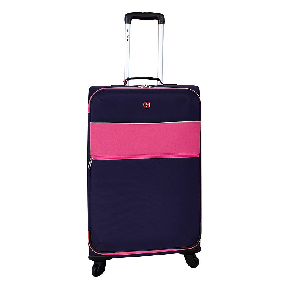 SwissGear Travel Gear 24 4 Wheeled Spinner Pink SwissGear Travel Gear Softside Checked