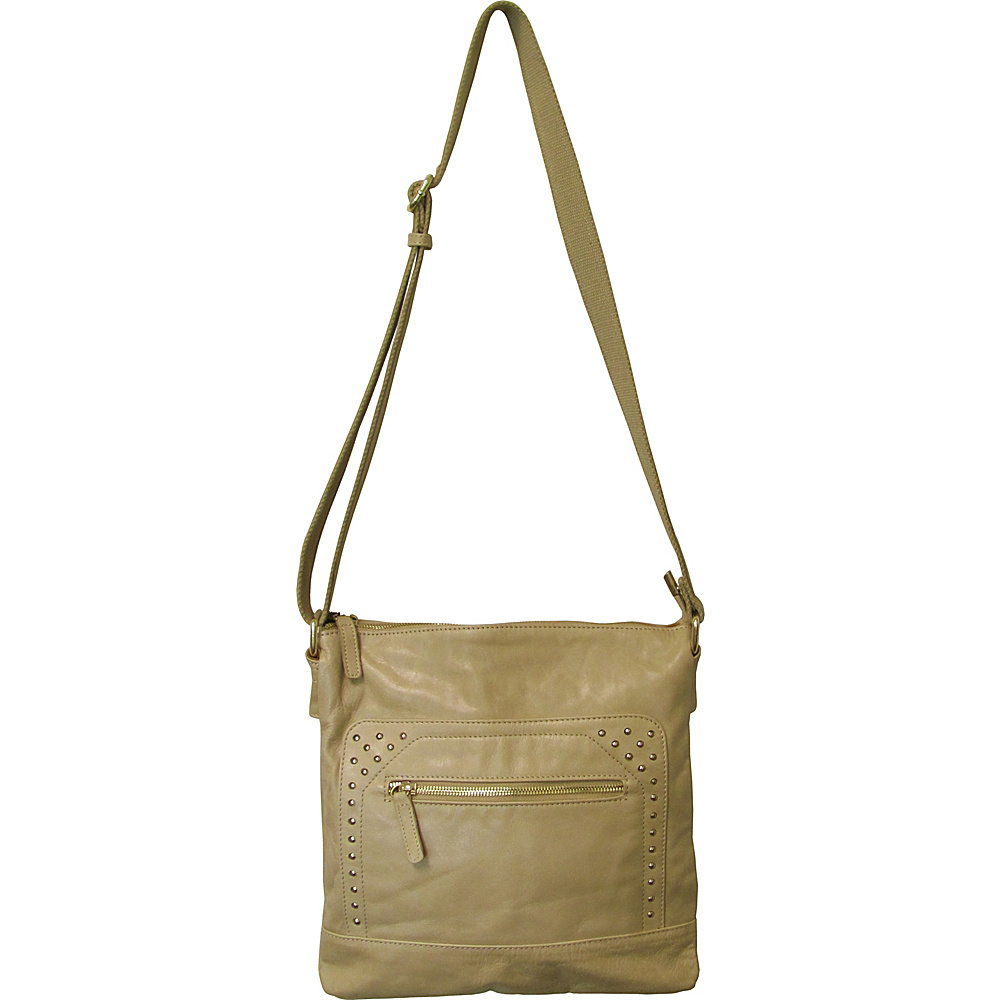 AmeriLeather Simply Messenger/Shoulder Bag Tan - AmeriLeather Leather Handbags - Handbags, Leather Handbags