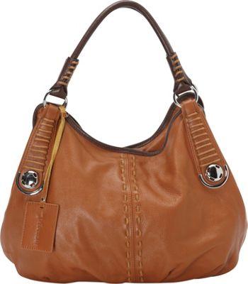 Vicenzo Leather Lisa Italian Leather Hobo Brown - Vicenzo Leather Leather Handbags
