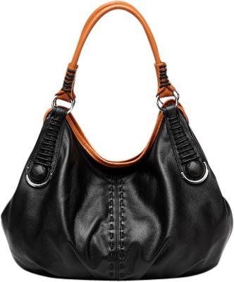 Vicenzo Leather Lisa Italian Leather Hobo Black - Vicenzo Leather Leather Handbags