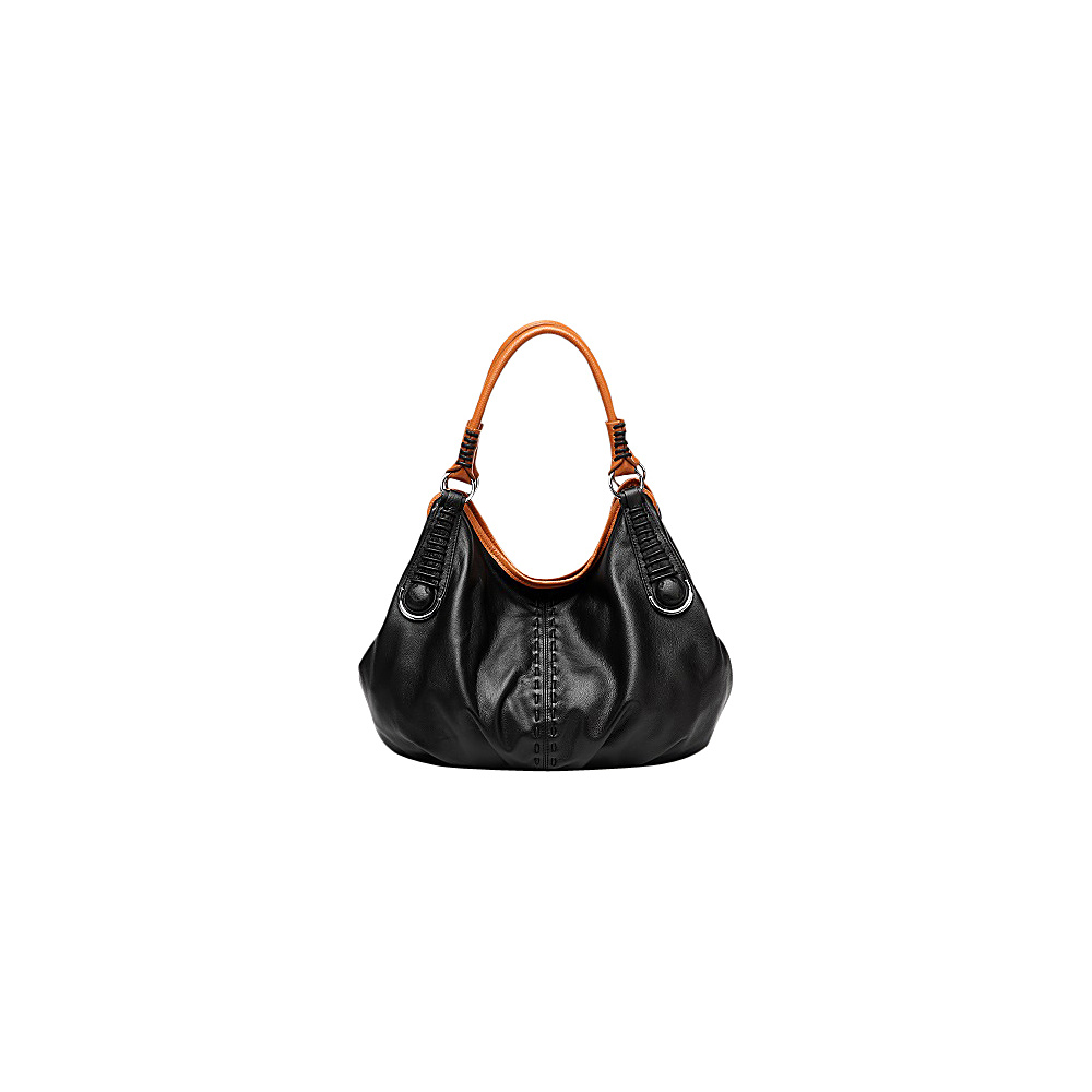 Vicenzo Leather Lisa Italian Leather Hobo Black Vicenzo Leather Gym Bags