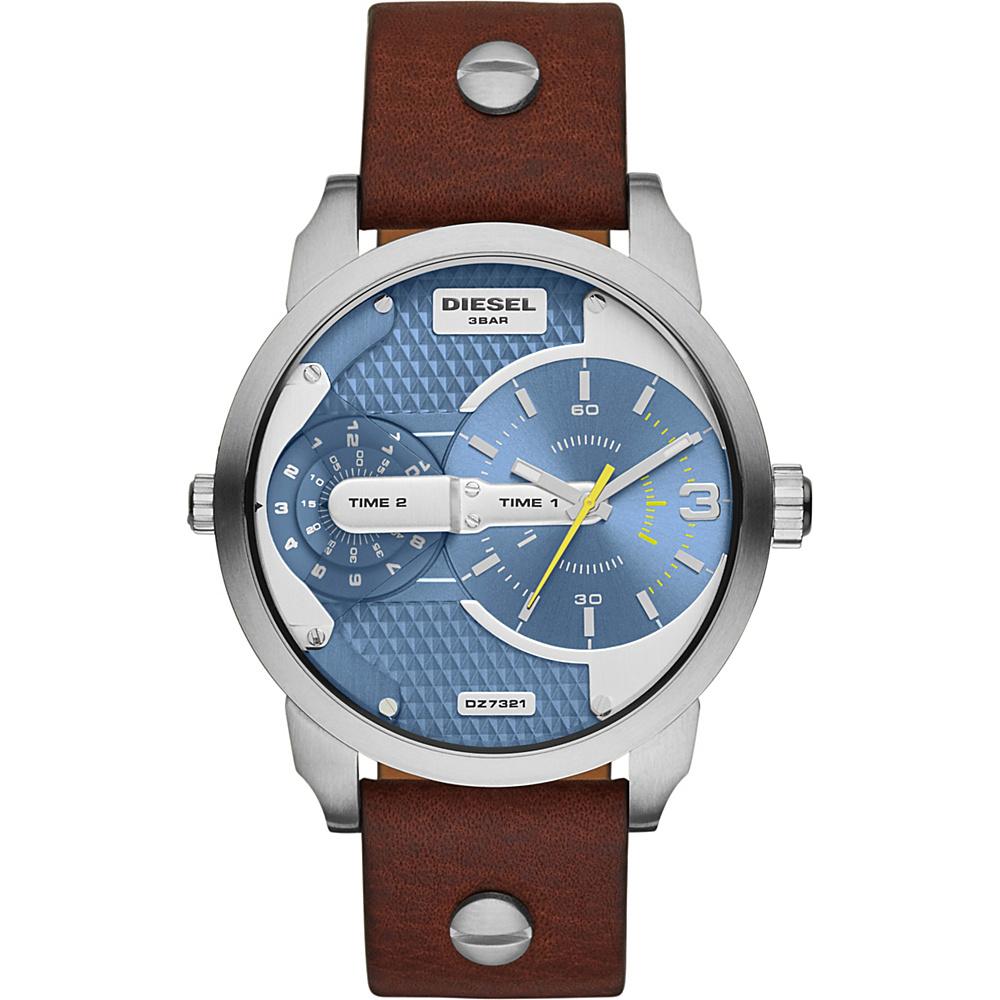 Diesel Watches Mini Daddy Leather Watch Brown - Diesel Watches Watches