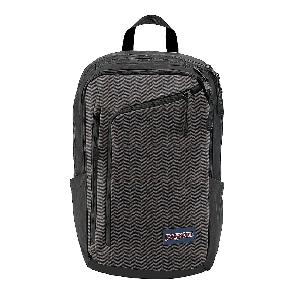 JanSport Platform Laptop Backpack Black White Herringbone - JanSport Business & Laptop Backpacks