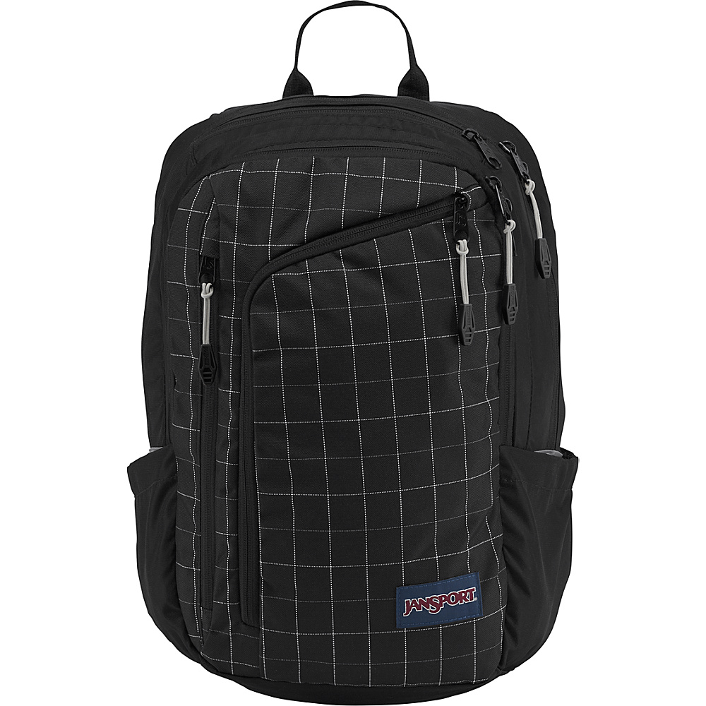 JanSport Platform Laptop Backpack Black Reflective Grid - JanSport Business & Laptop Backpacks