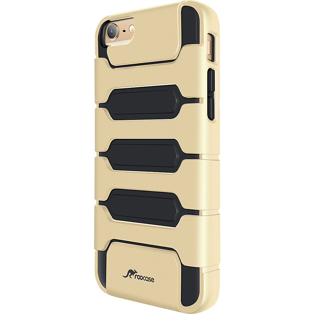 rooCASE Slim XENO Armor Hybrid TPU PC Case Cover for iPhone 6 6s Plus 5.5 inch Fossil Gold rooCASE Electronic Cases