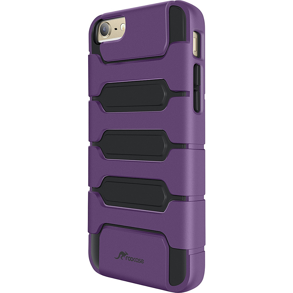 rooCASE Slim XENO Armor Hybrid TPU PC Case Cover for iPhone 6 6s Plus 5.5 inch Purple rooCASE Electronic Cases