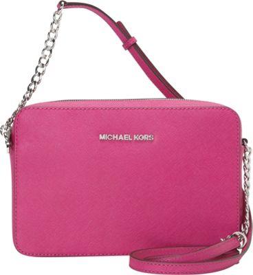 MICHAEL Michael Kors Jet Set Large E/W Crossbody Fuschia - MICHAEL Michael Kors Designer Handbags