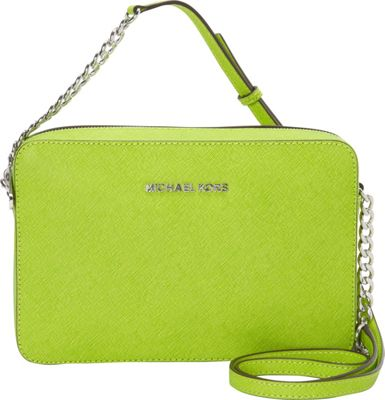 MICHAEL Michael Kors Jet Set Large E/W Crossbody Pear - MICHAEL Michael Kors Designer Handbags