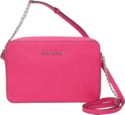 MICHAEL Michael Kors Jet Set Large E/W Crossbody Raspberry - MICHAEL Michael Kors Designer Handbags