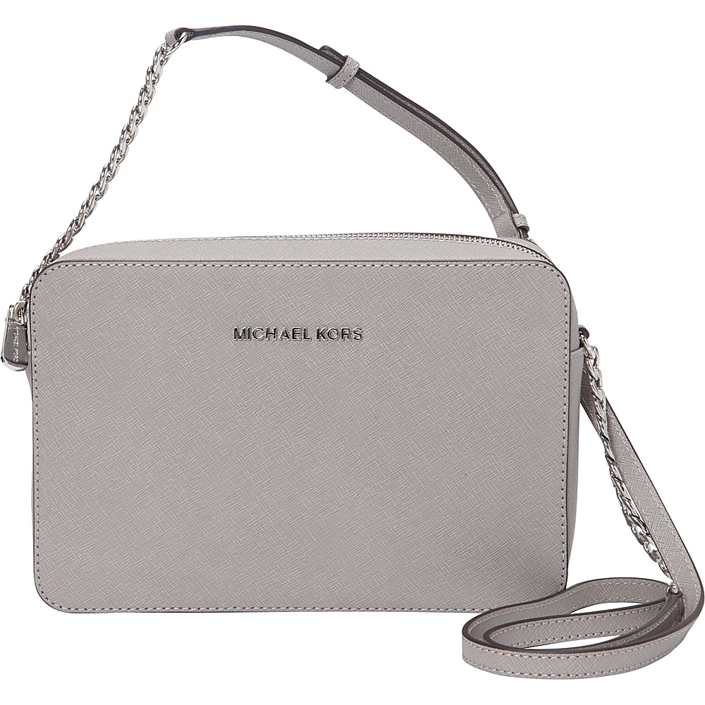 4e63ad505caa ... Grey | UPC 888235215457 product image for MICHAEL Michael Kors Jet Set  Large E/W Crossbody Pearl ...