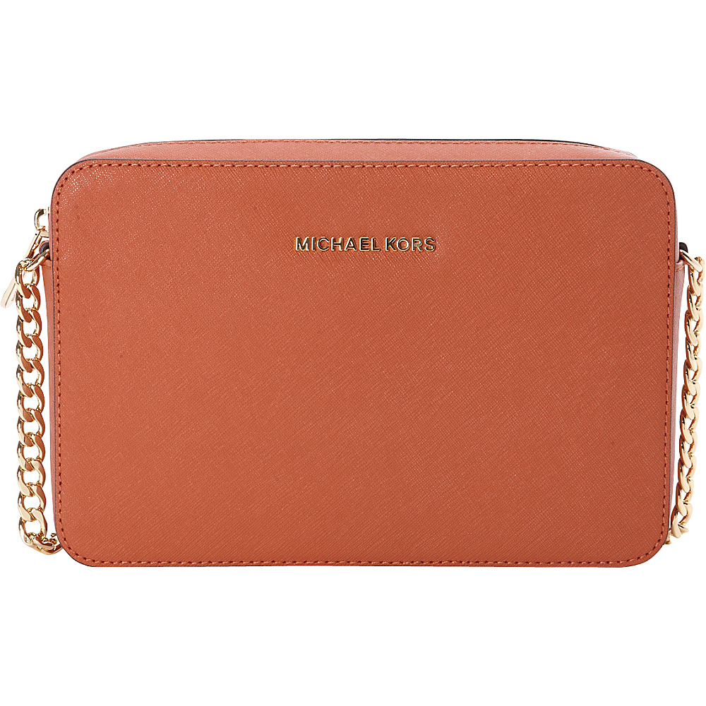 MICHAEL Michael Kors Jet Set Large E W Crossbody Orange MICHAEL Michael Kors Designer Handbags