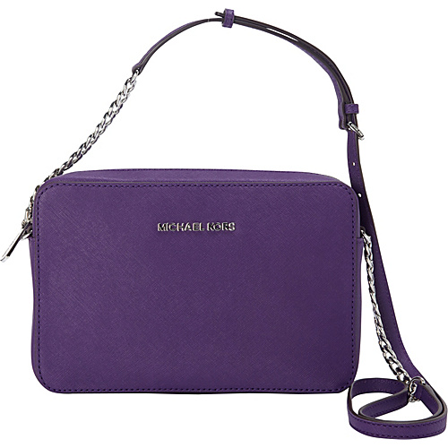 MICHAEL Michael Kors Jet Set Large E/W Crossbody Grape - MICHAEL Michael Kors Designer Handbags