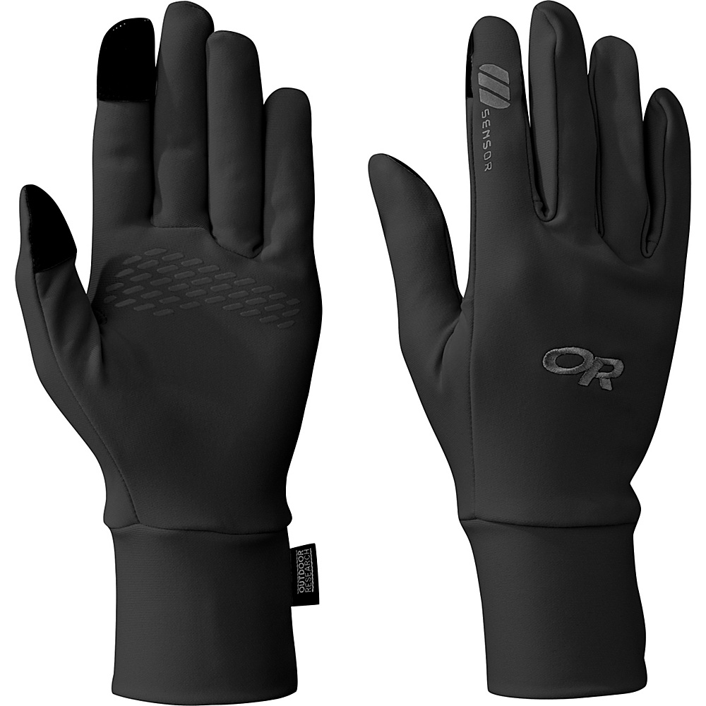 Outdoor Research PL Base Sensor Gloves Womens L - Black - Outdoor Research Hats/Gloves/Scarves - Fashion Accessories, Hats/Gloves/Scarves