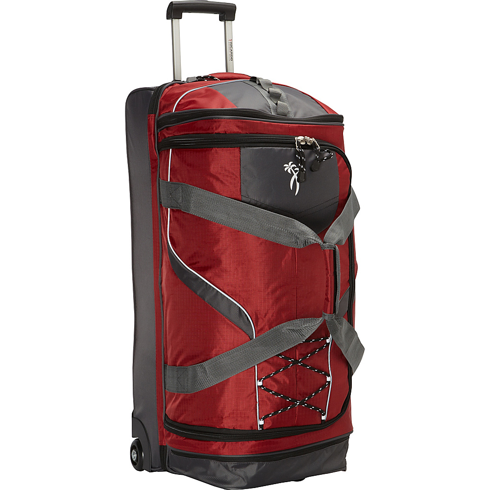 Ricardo Beverly Hills Essentials 30 2 Wheel Drop Bottom Duffel Red Ricardo Beverly Hills Rolling Duffels