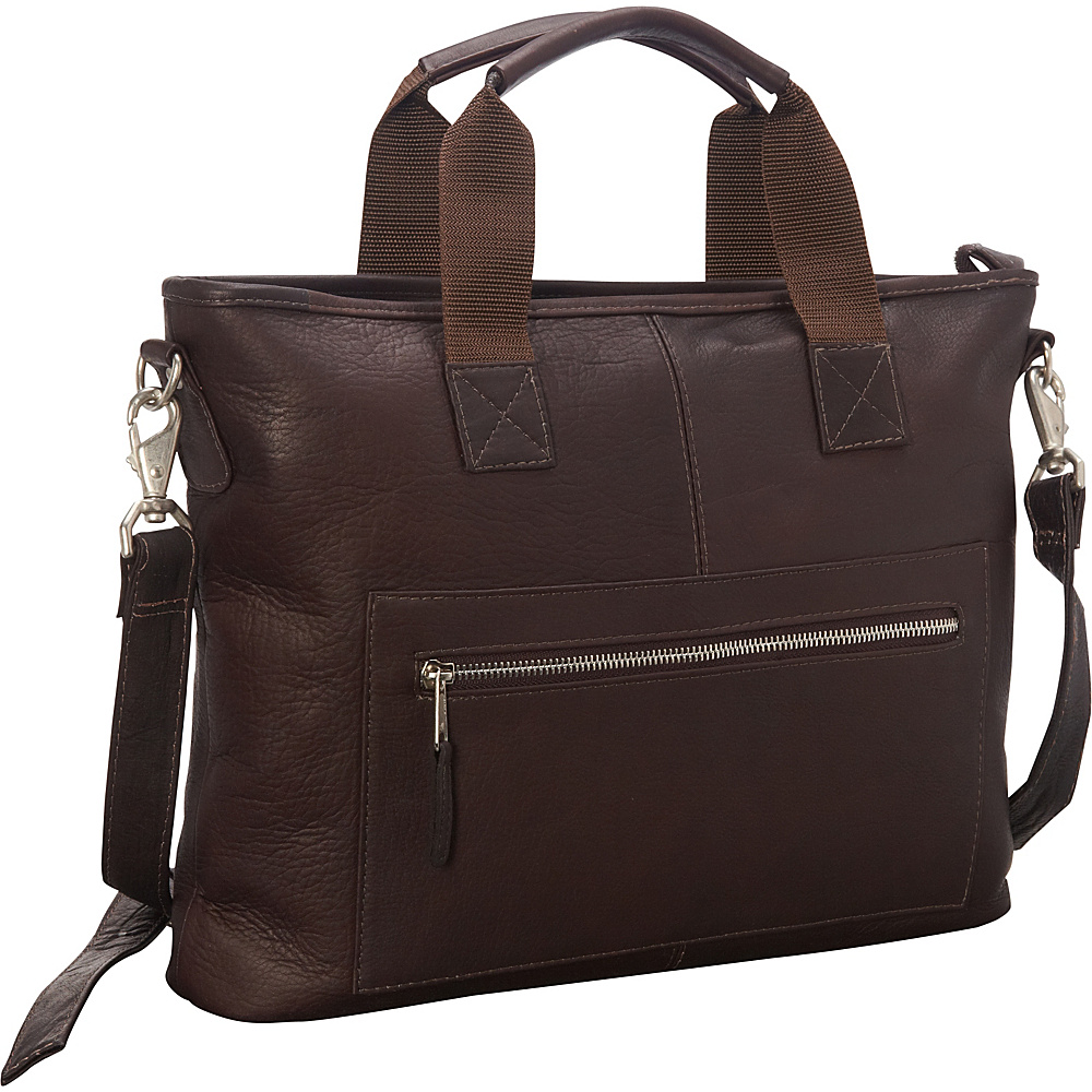 Latico Leathers New Orleans Laptop Brief Café - Latico Leathers Non-Wheeled Business Cases - Work Bags & Briefcases, Non-Wheeled Business Cases