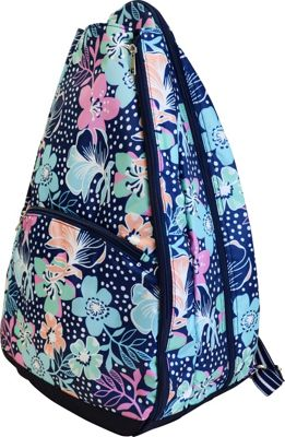 All For Color Tennis Backpack Midnight Blooms - All For Color Racquet Bags