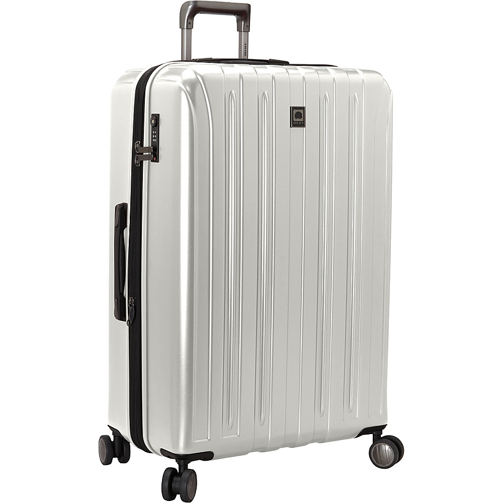 Delsey Helium Titanium 29 Spinner Trolley Silver Delsey Hardside Checked