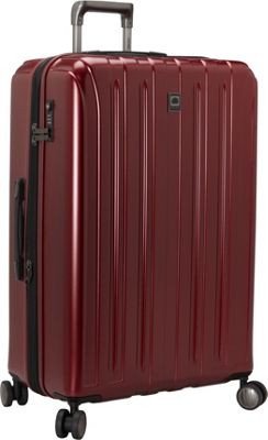 Delsey Helium Titanium 29 inch Spinner Trolley Black Cherry - Delsey Hardside Checked