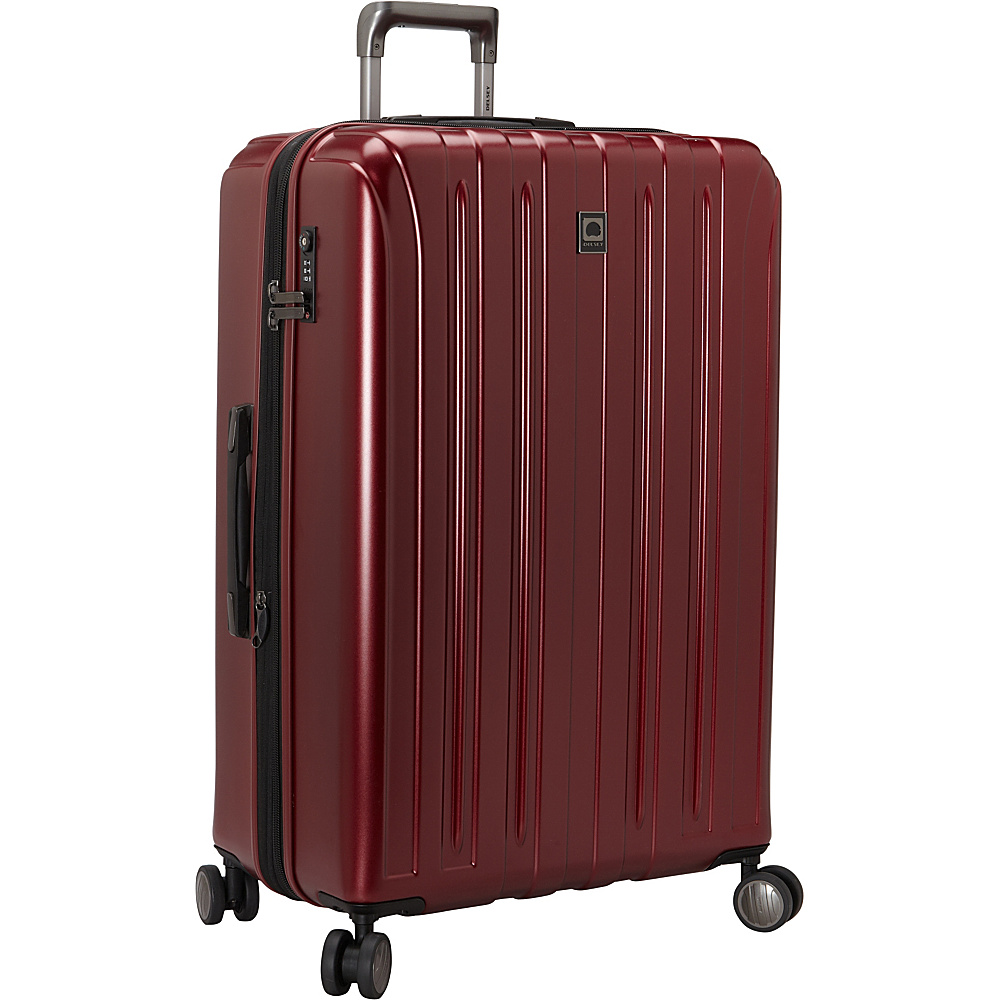 Delsey Helium Titanium 29 Spinner Trolley Black Cherry Delsey Hardside Checked