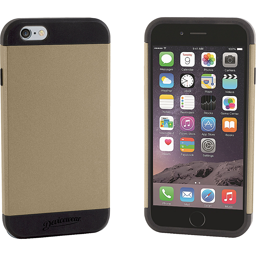 Devicewear Durus [Armor Tough] Protective Case [Heavy Duty] Dual Layer Extreme Protection Cover Case for iPhone 6 4.7 Gold Devicewear Electronic Cases