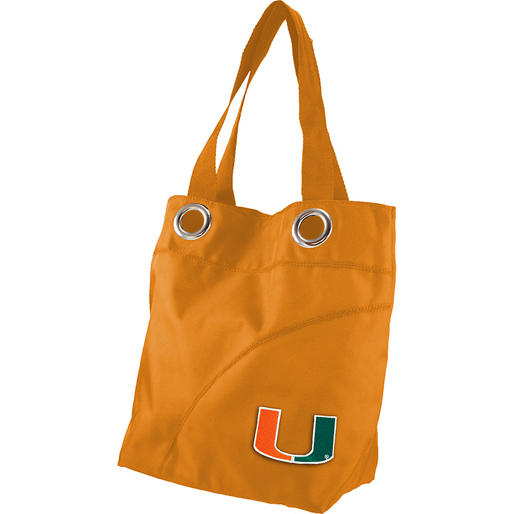 Littlearth Color Sheen Tote - ACC Teams University of Miami - Littlearth Fabric Handbags - Handbags, Fabric Handbags