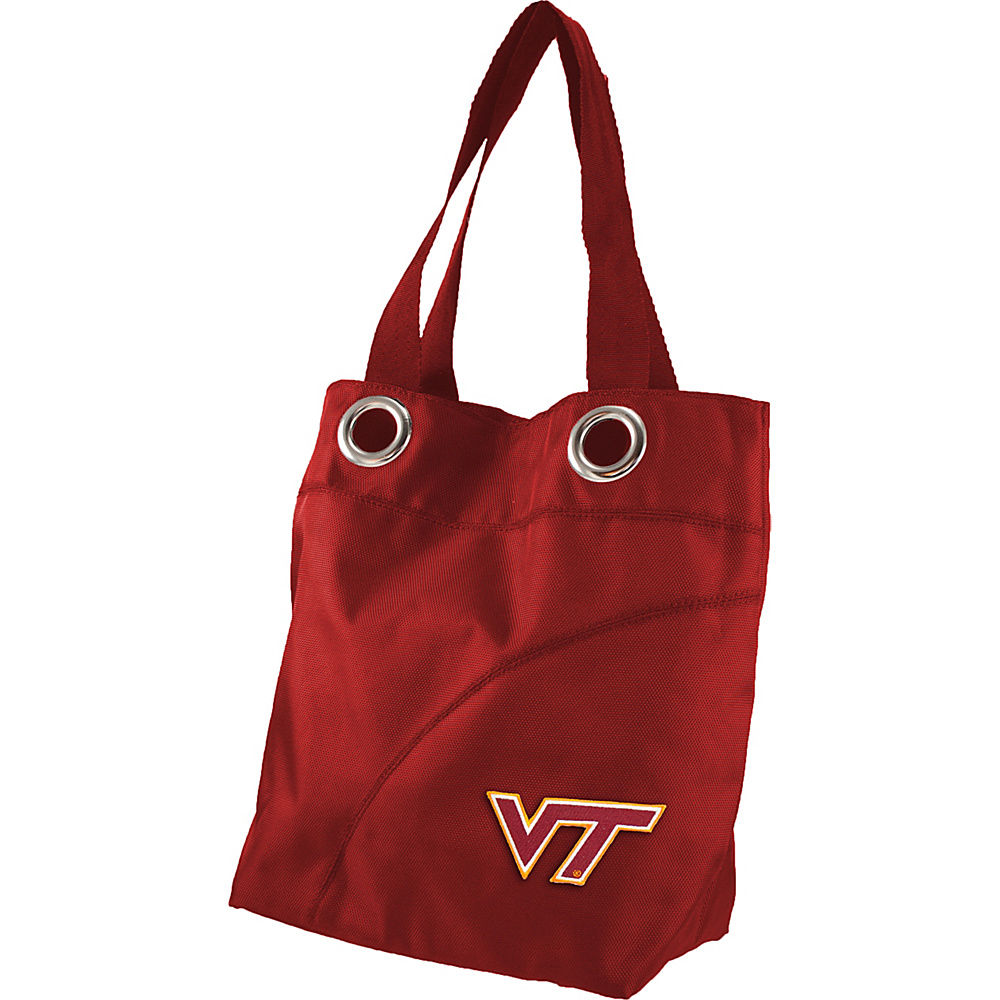 Littlearth Color Sheen Tote - ACC Teams Virginia Tech - Littlearth Fabric Handbags - Handbags, Fabric Handbags
