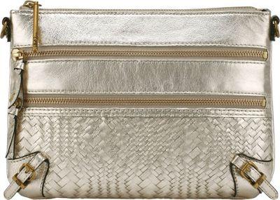 Elliott Lucca Bali '89 3 Zip Clutch New Gold Devi - Elliott Lucca Designer Handbags