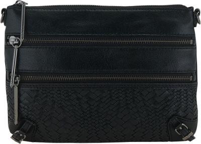 Elliott Lucca Bali '89 3 Zip Clutch Black Devi - Elliott Lucca Designer Handbags