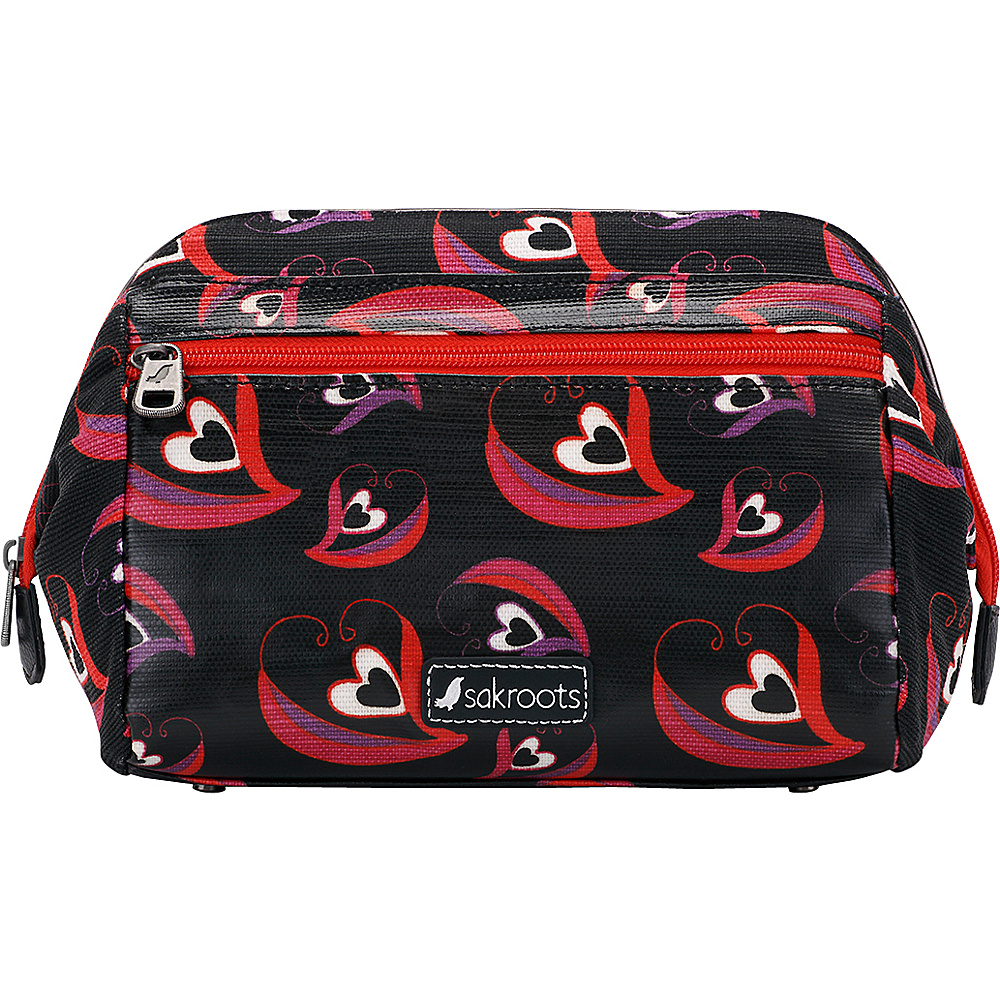 Sakroots Artist Circle Carryall Cosmetic Scarlet Sweetheart - Sakroots Womens SLG Other - Women's SLG, Women's SLG Other