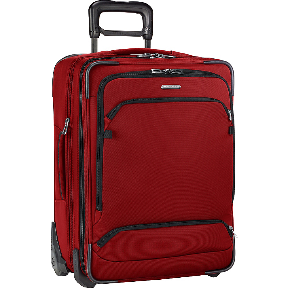 Briggs Riley Transcend 300 Intl Carry On Expandable Wide Body Upright Crimson Briggs Riley Softside Carry On