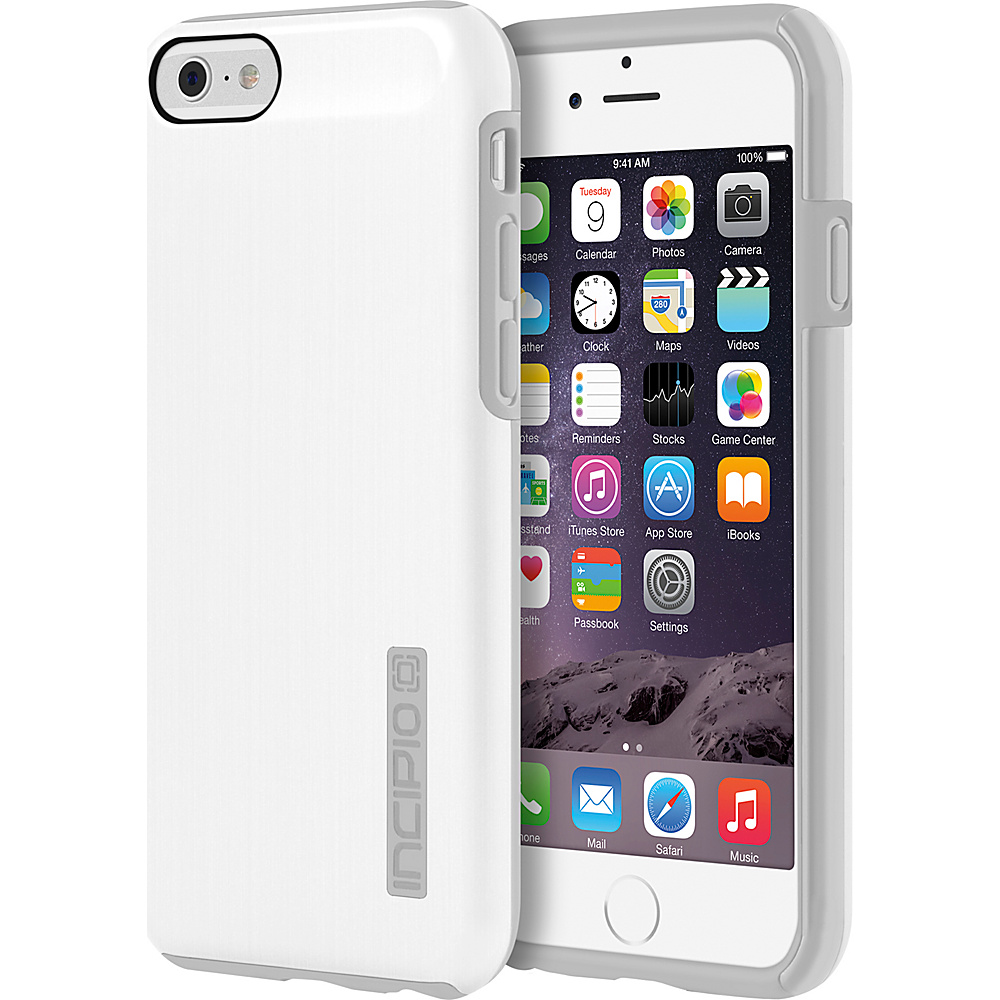 Incipio DualPro SHINE iPhone 6 6s Case White Gray Incipio Electronic Cases