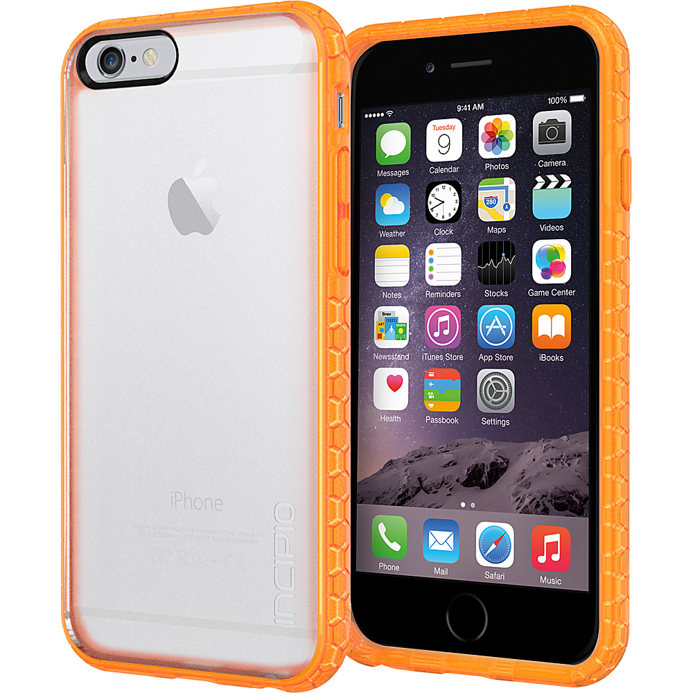 Incipio Octane iPhone 6 6s Case Frost Neon Orange Incipio Electronic Cases